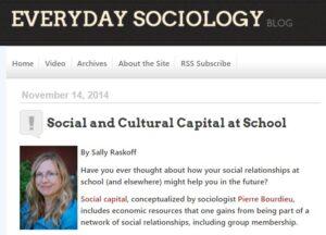 Social and Cultural Capital at School