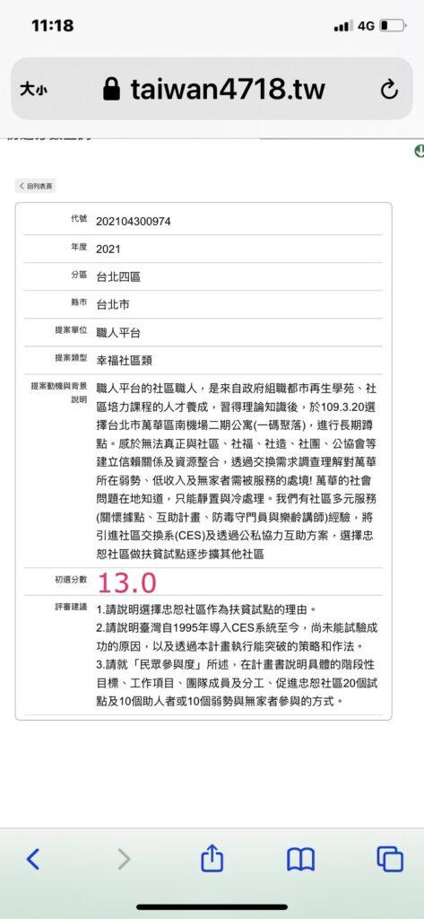 台北市萬華區職人平台: 忠恕社區作為扶貧試點